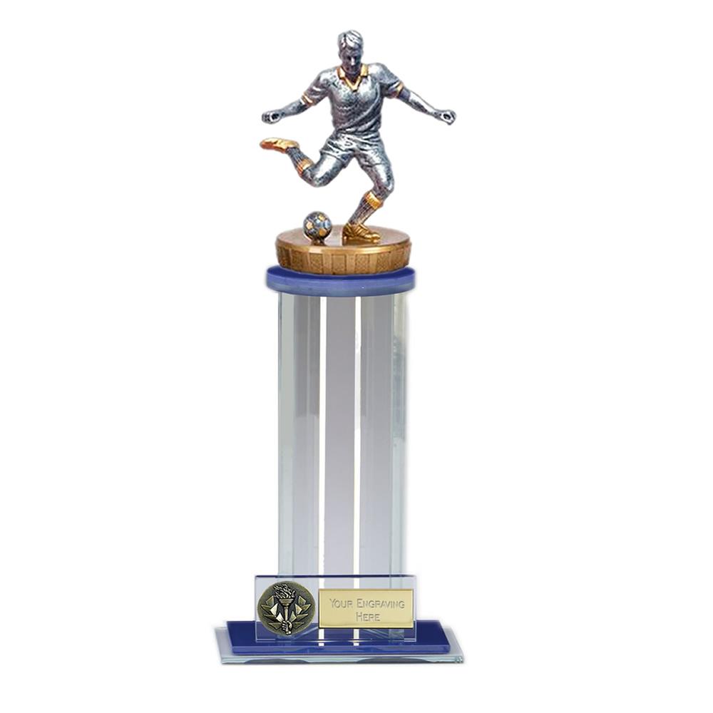24cm Footballer Male Figure on Football Trafalgar Award