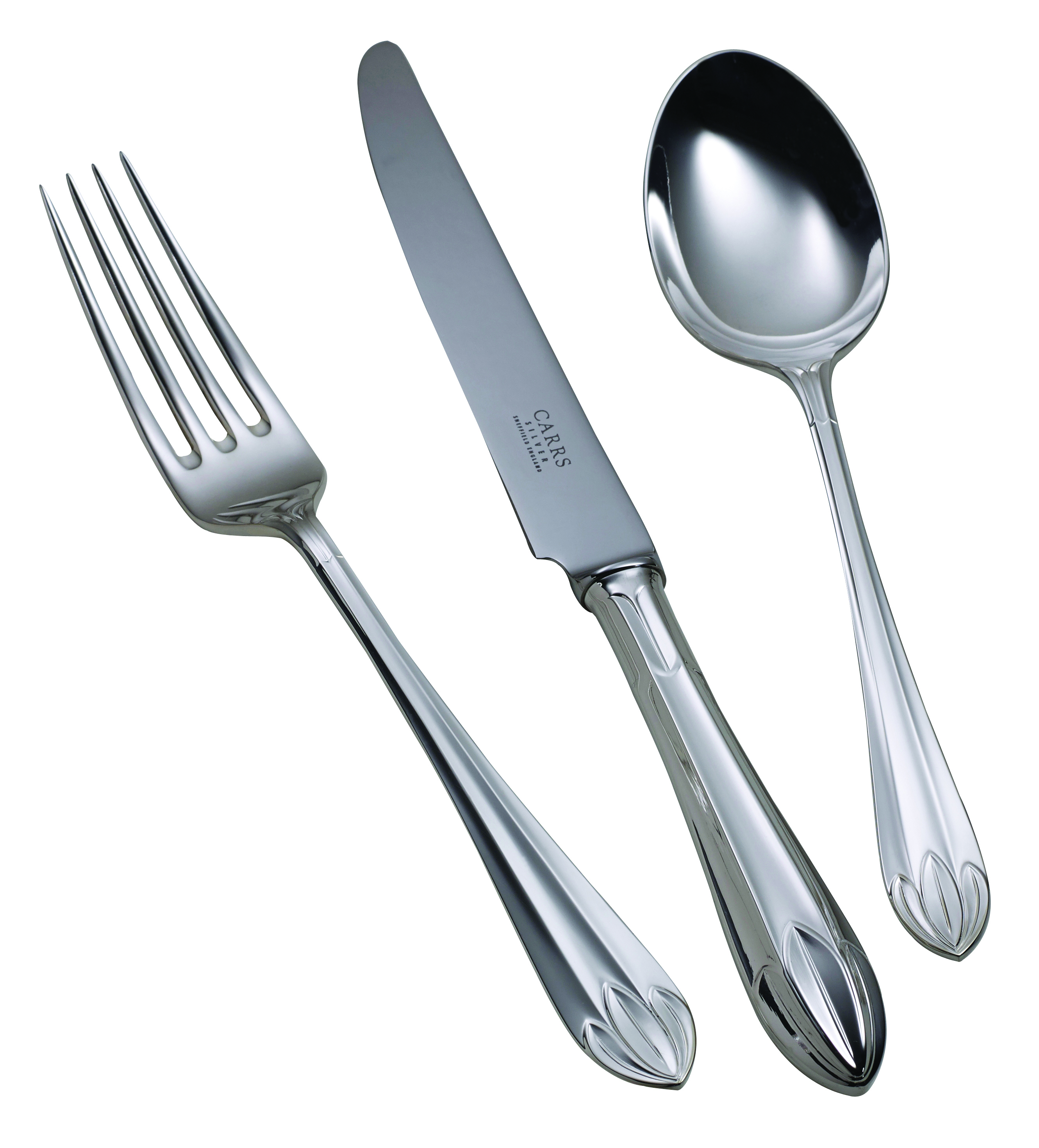 Silver Plated Lotus Cutlery