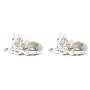 Sterling Silver Flying Pheasants Cufflinks