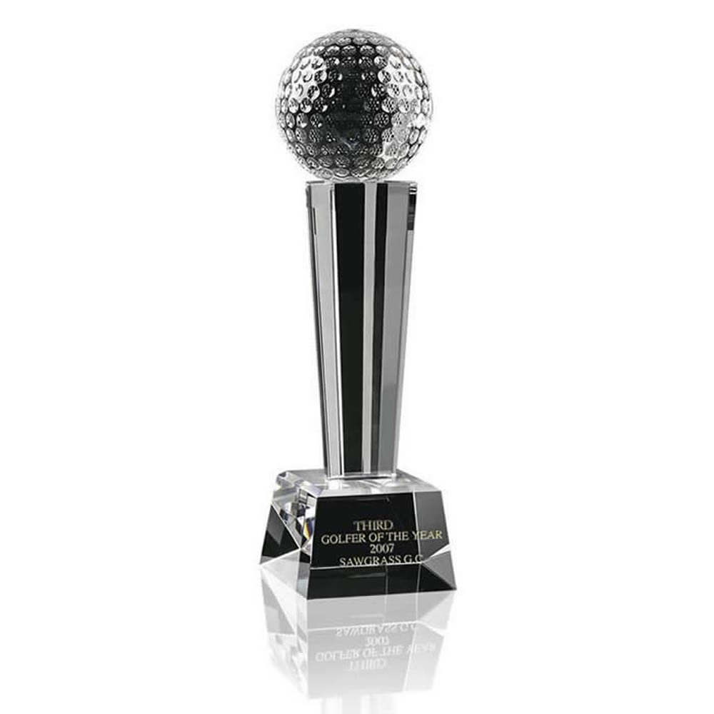 6 Inch Ball Podium Golf Optical Crystal Award