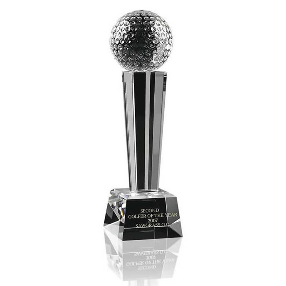 8 Inch Ball Podium Golf Optical Crystal Award