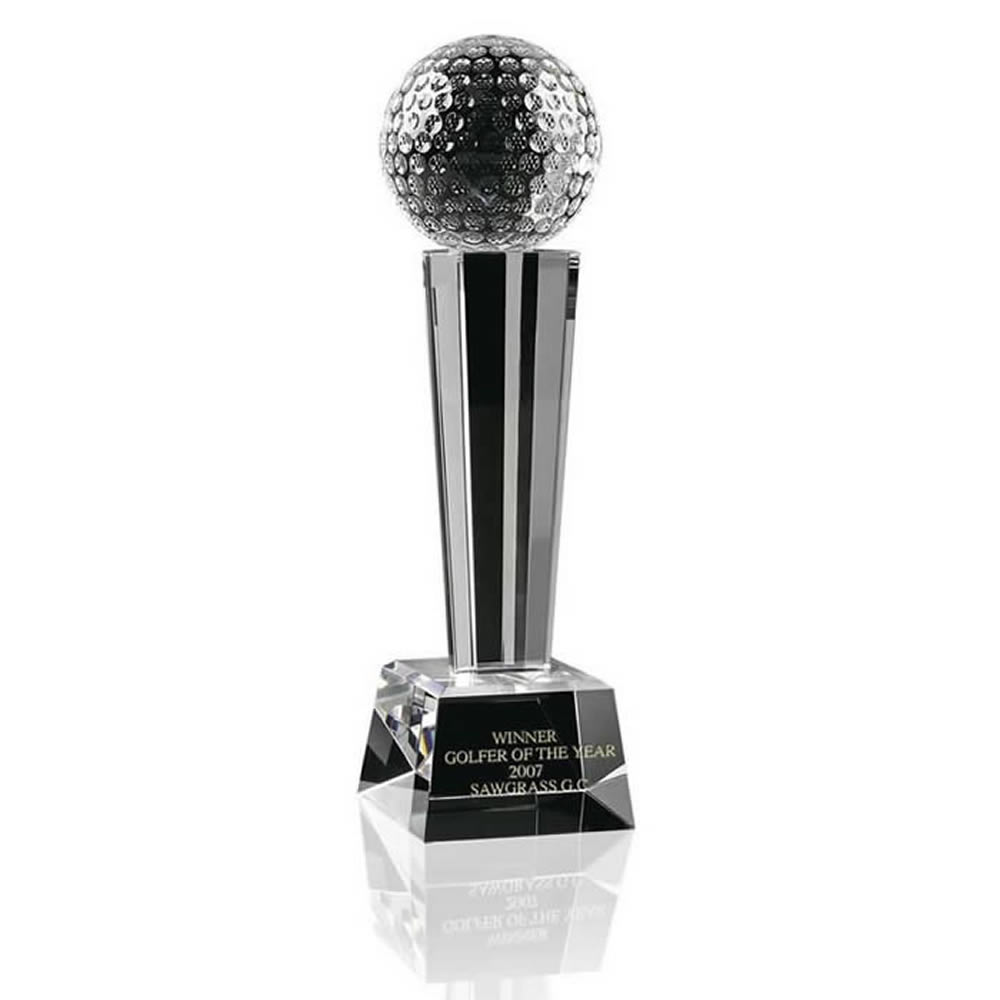 10 Inch Ball Podium Golf Optical Crystal Award