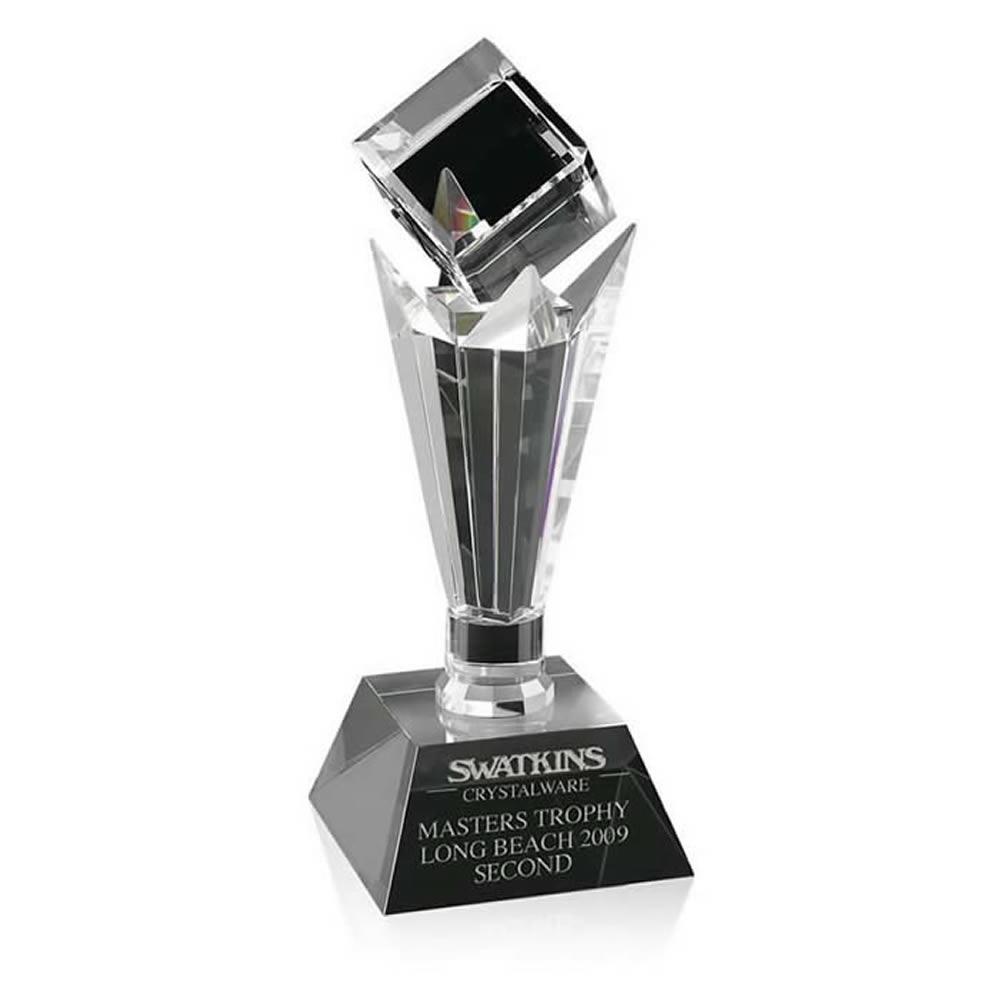 11 Inch Floating Cube Optical Crystal Award