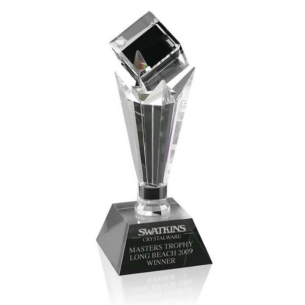 14 Inch Floating Cube Optical Crystal Award
