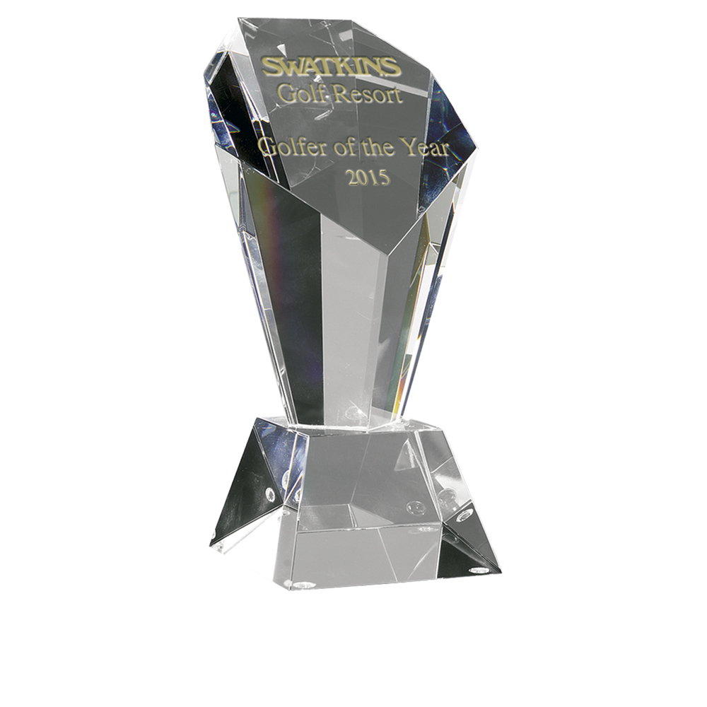 8 Inch Opulent Optical Crystal Award