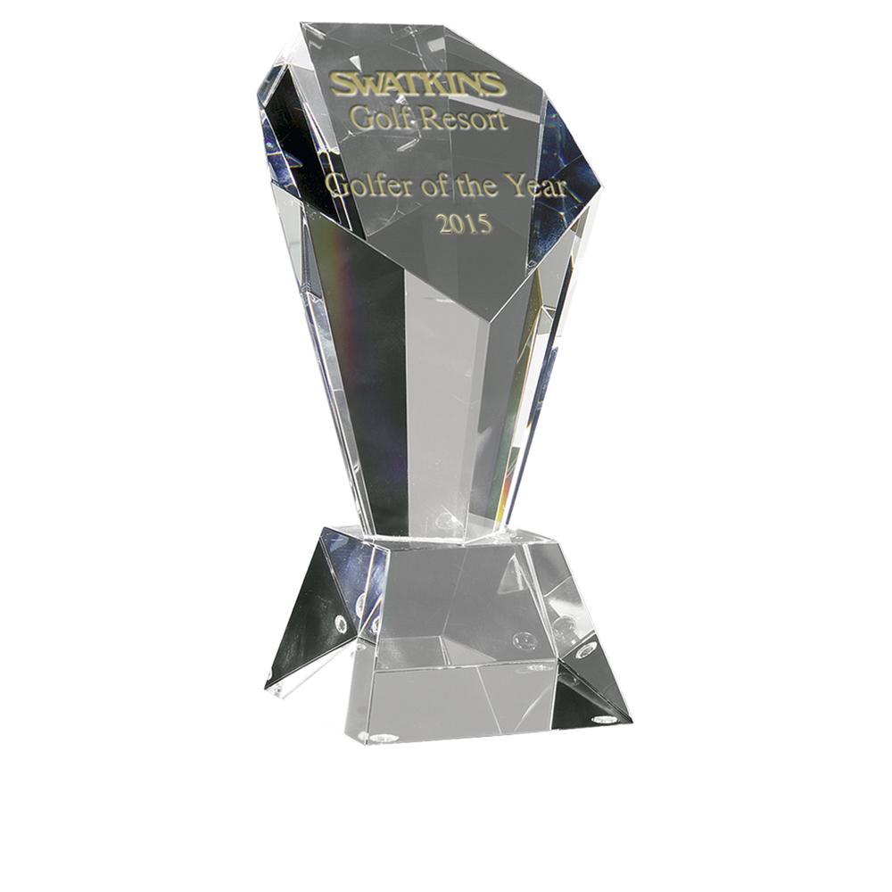 8 Inch Opulent Optical Crystal Award