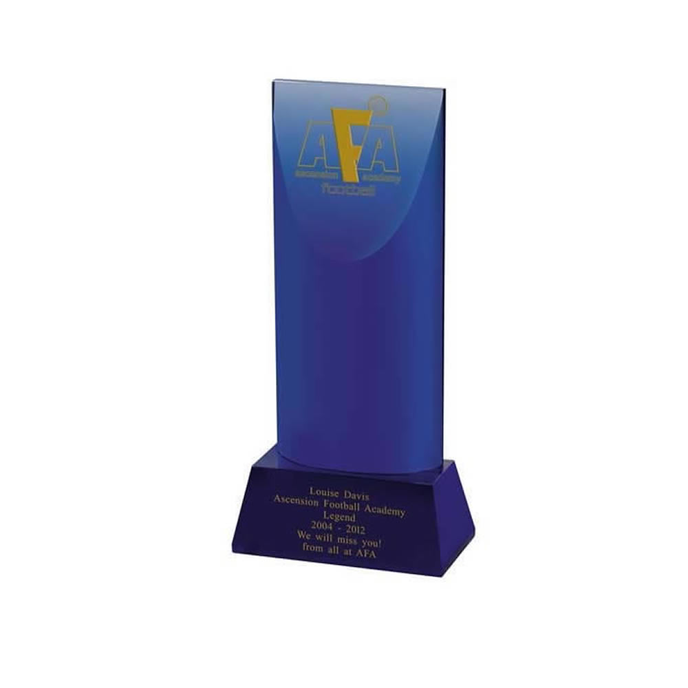 9 Inch Slanted Top Optical Crystal Award