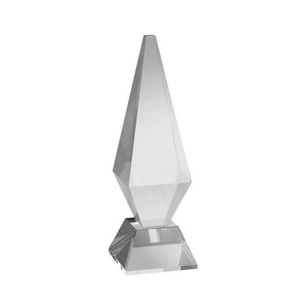 8 Inch Solid Pyramid Optical Crystal Award