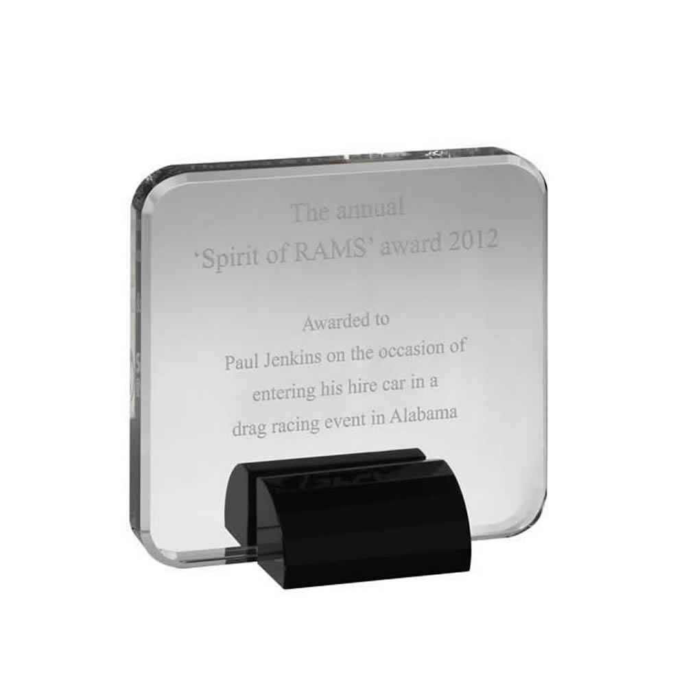 6 x 6 Inch Square Optical Crystal Award
