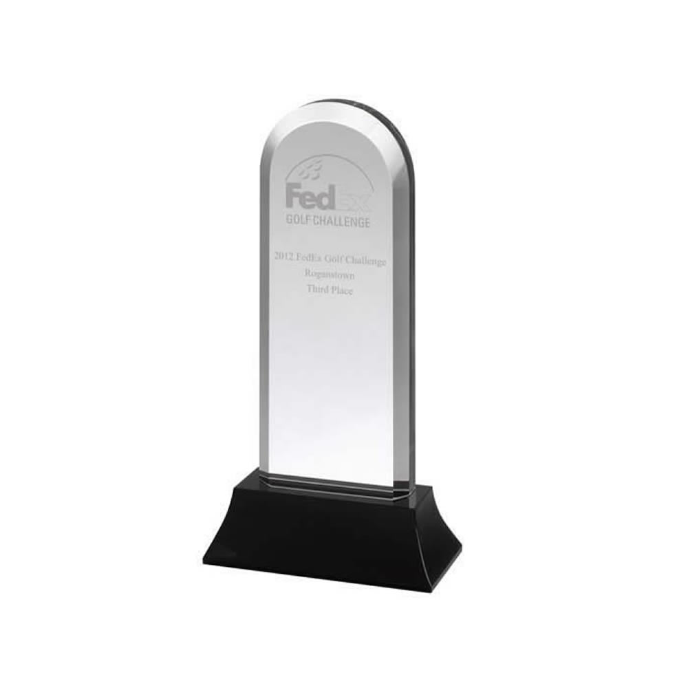 10 Inch Arched Optical Crystal Award