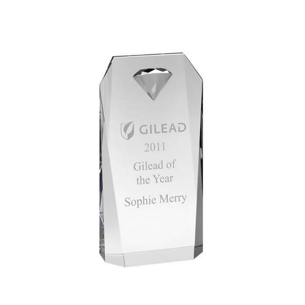 8 Inch Diamond Shaped Embellished Portrait Optics Award