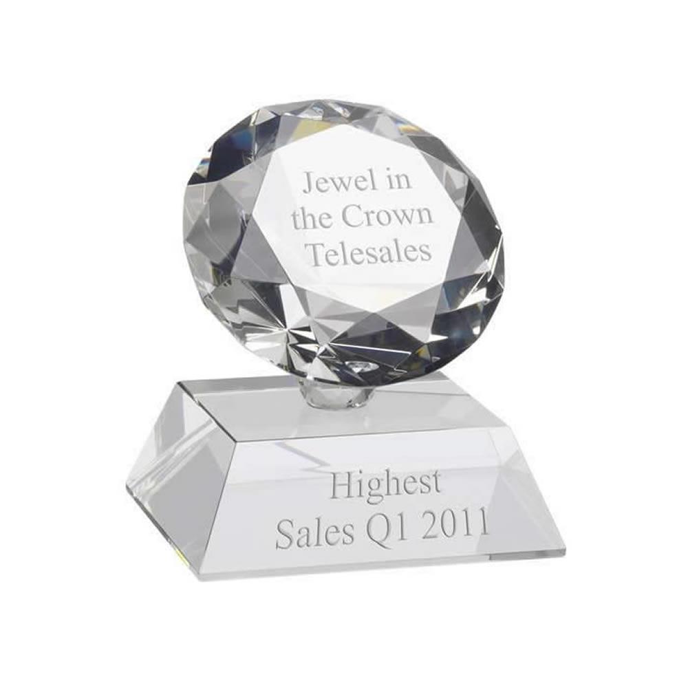 5 Inch Classic Diamond Shape Optics Award