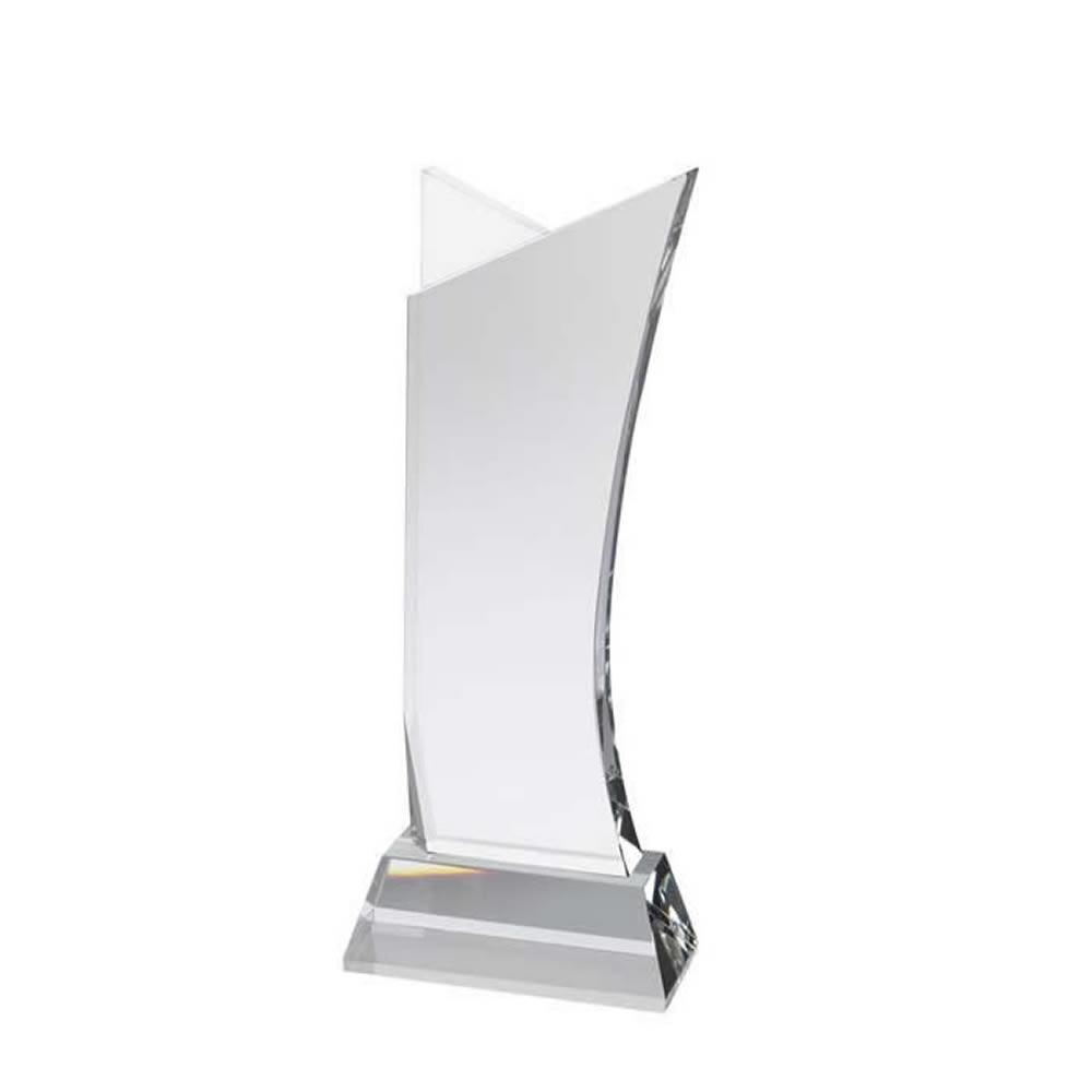 7 Inch Simple Sail Golf Optical Crystal Award