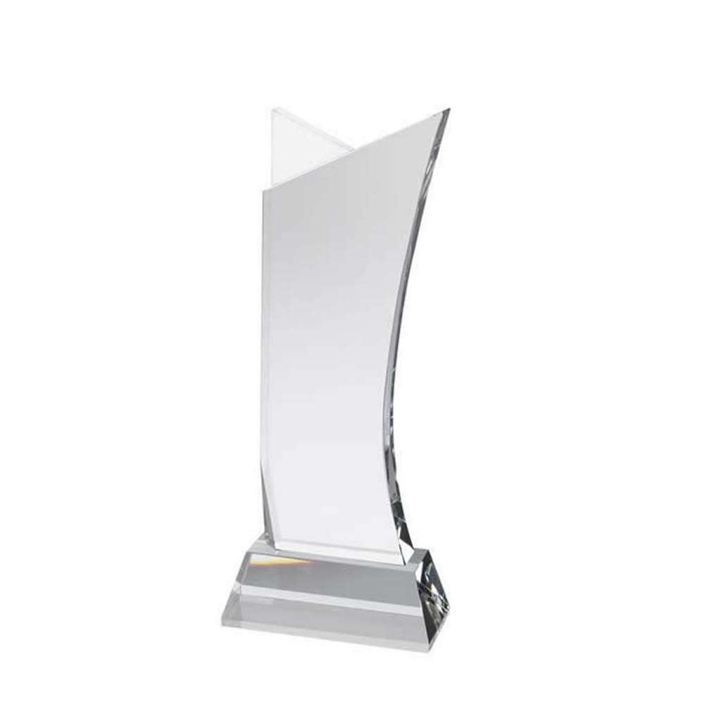 9 Inch Simple Tall Golf Optical Crystal Award