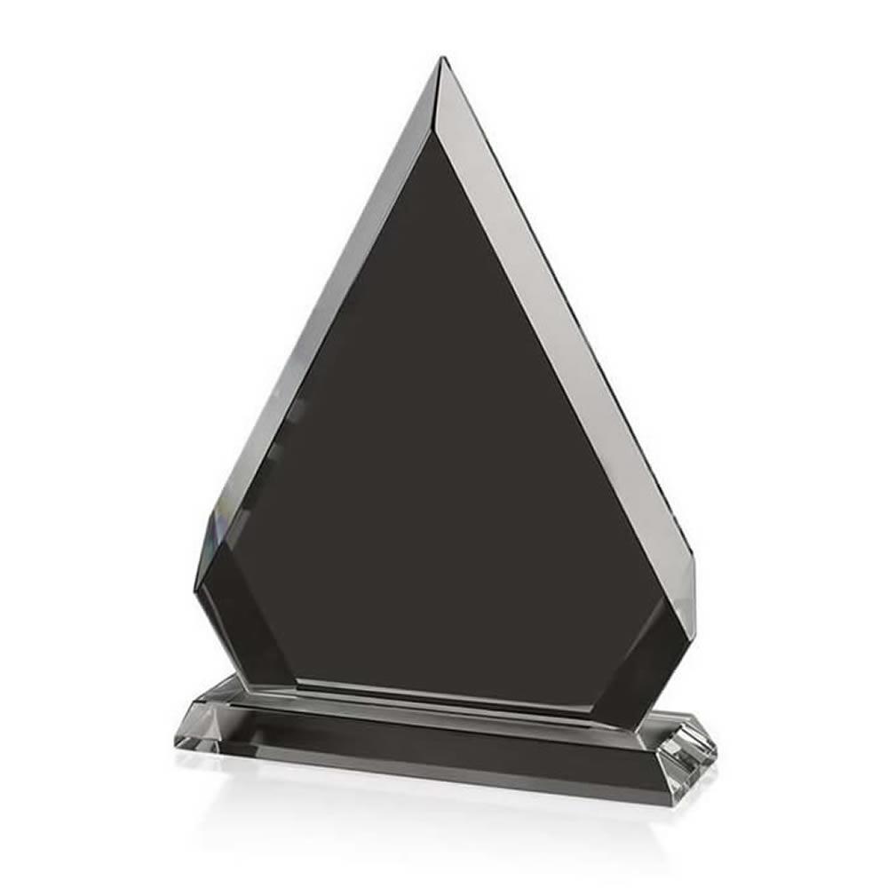 6 Inch Triangle Optical Crystal Award