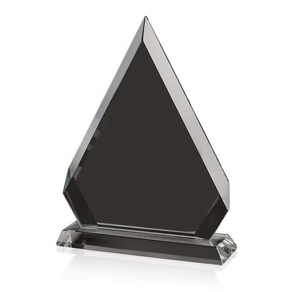 8 Inch Triangle Optical Crystal Award