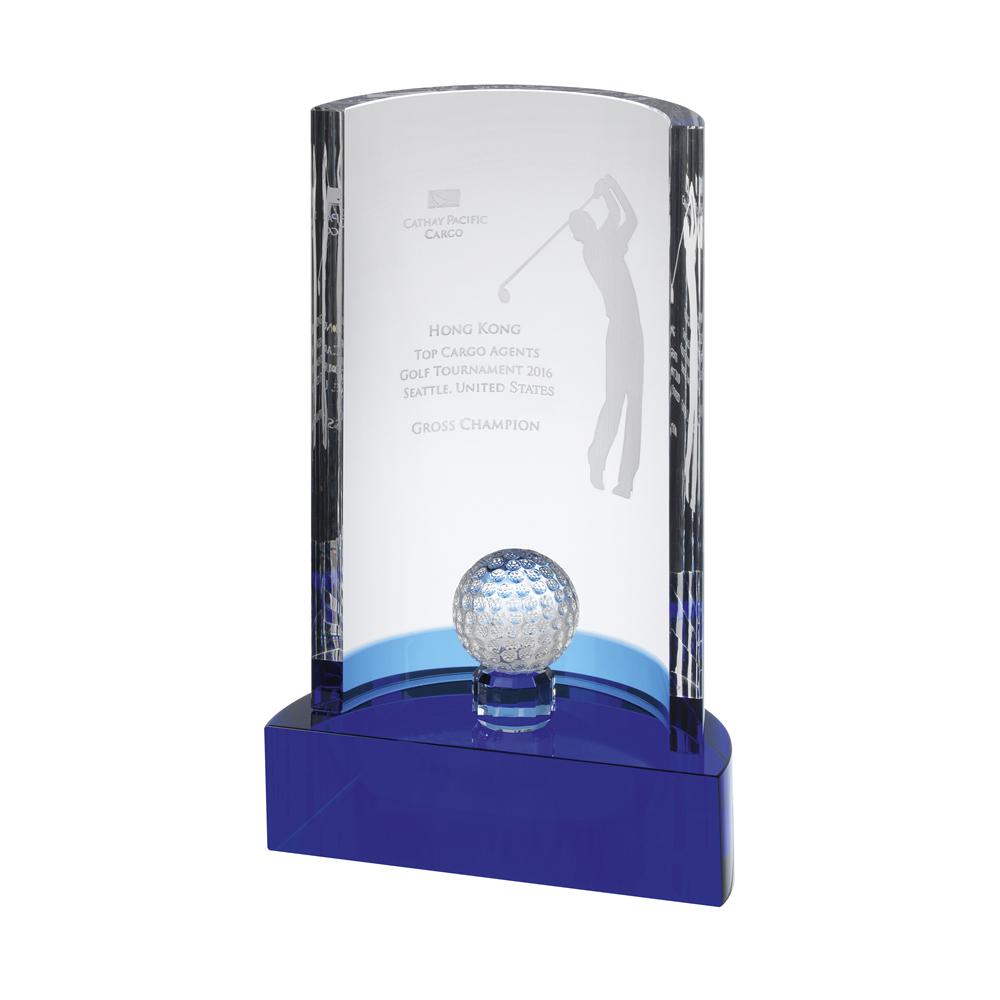 10 Inch Elegant Golf Optical Crystal Award