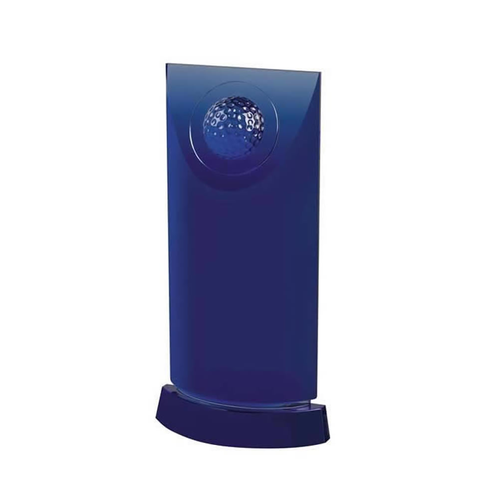 7 Inch Tall & Golf Ball Design Golf Optical Crystal Award