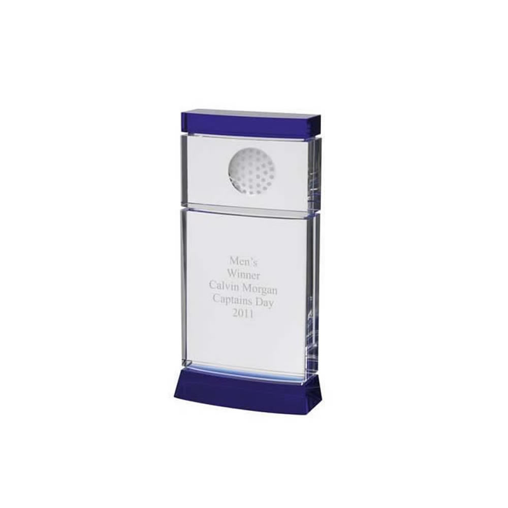 9 Inch Simple Modern Golf Optical Crystal Award