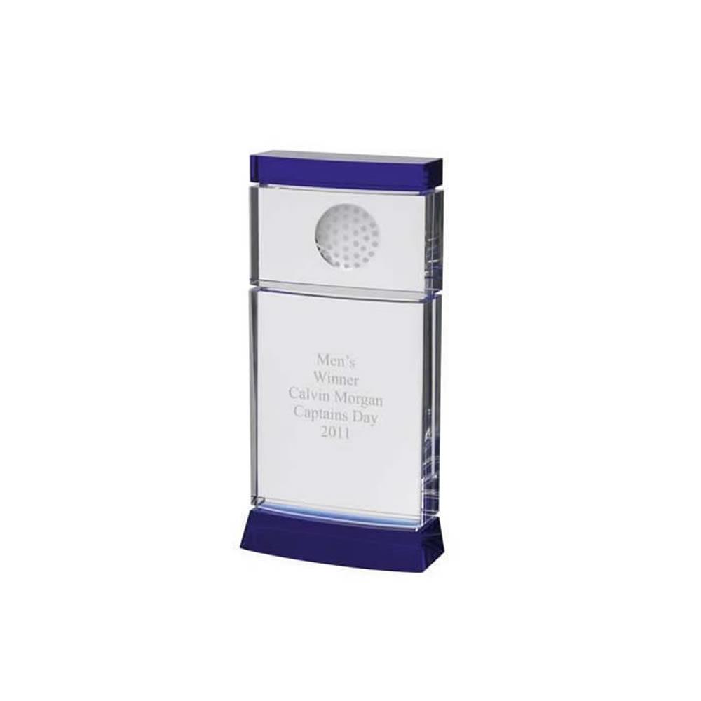 9 Inch Simple Modern Golf Optical Crystal Award