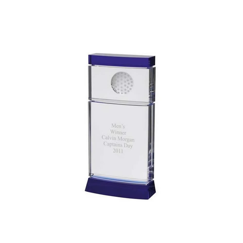 11 Inch Simple Modern Golf Optical Crystal Award