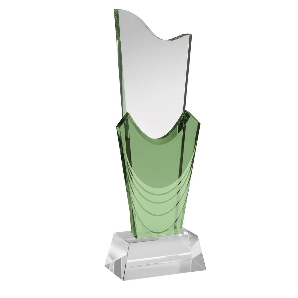 10 Inch Modern Torch Optical Crystal Award