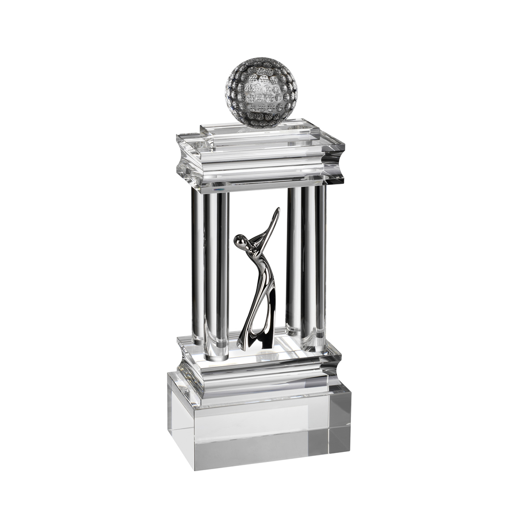 13 Inch Colossal Golf Optical Crystal Award