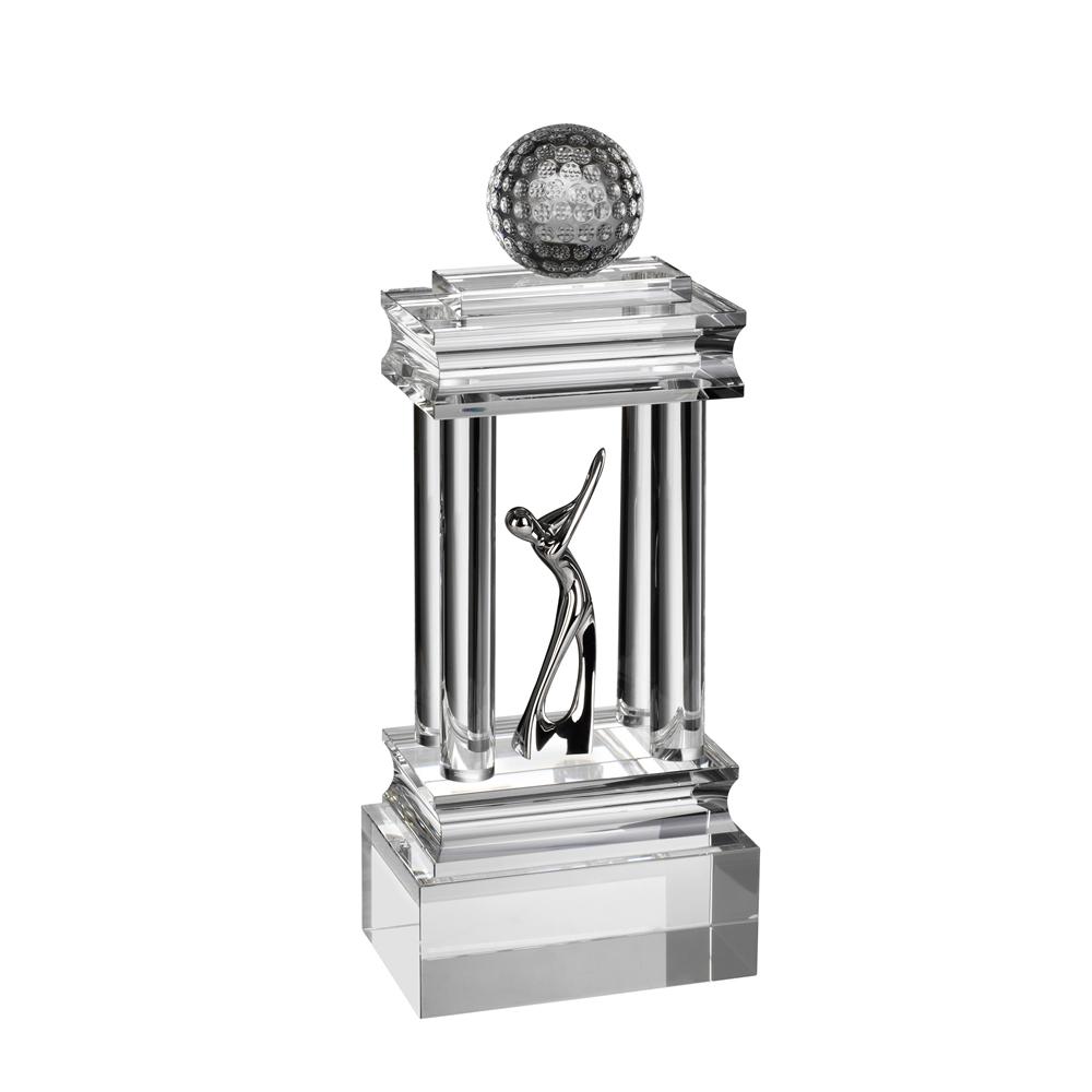 13 Inch Colossal Golf Optical Crystal Award
