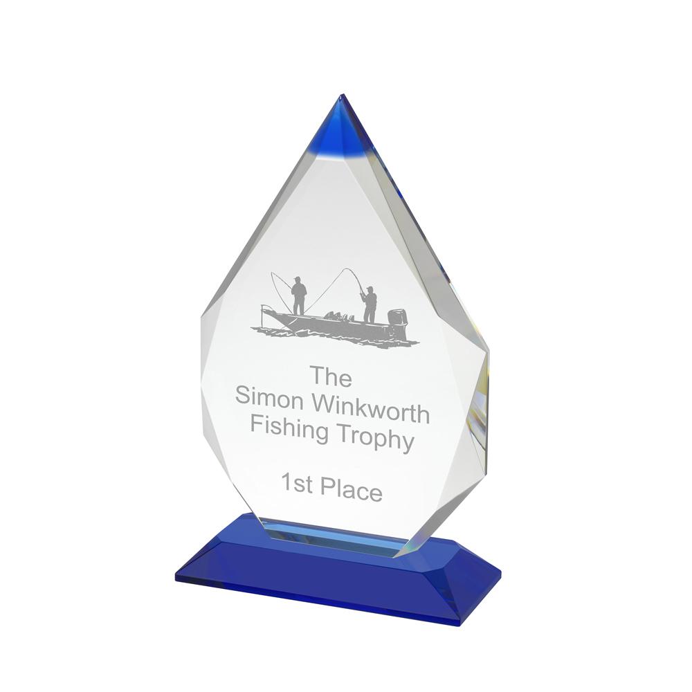 8 Inch Coloured Tip Optical Crystal Award