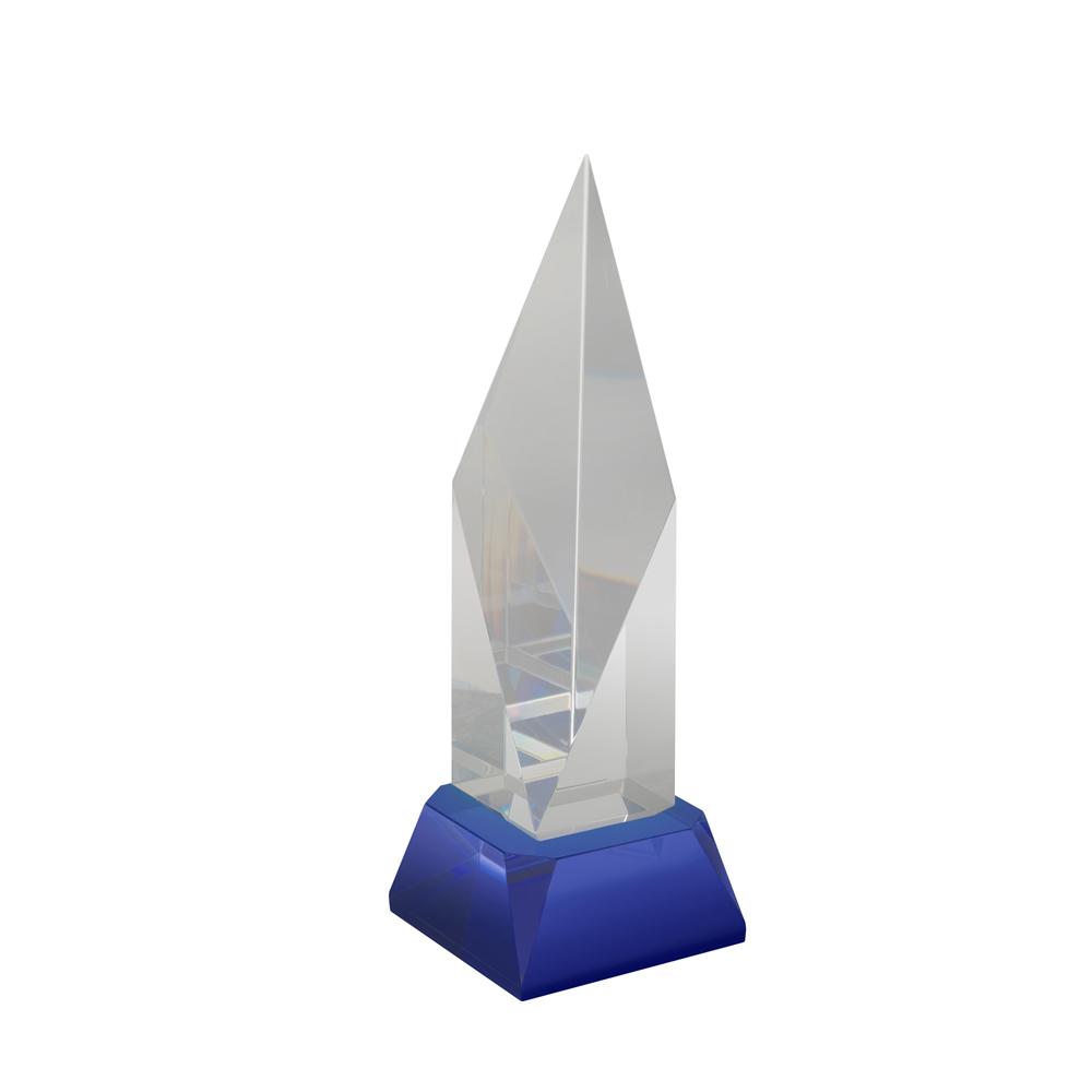 8 Inch Diamond Shape Optical Crystal Award