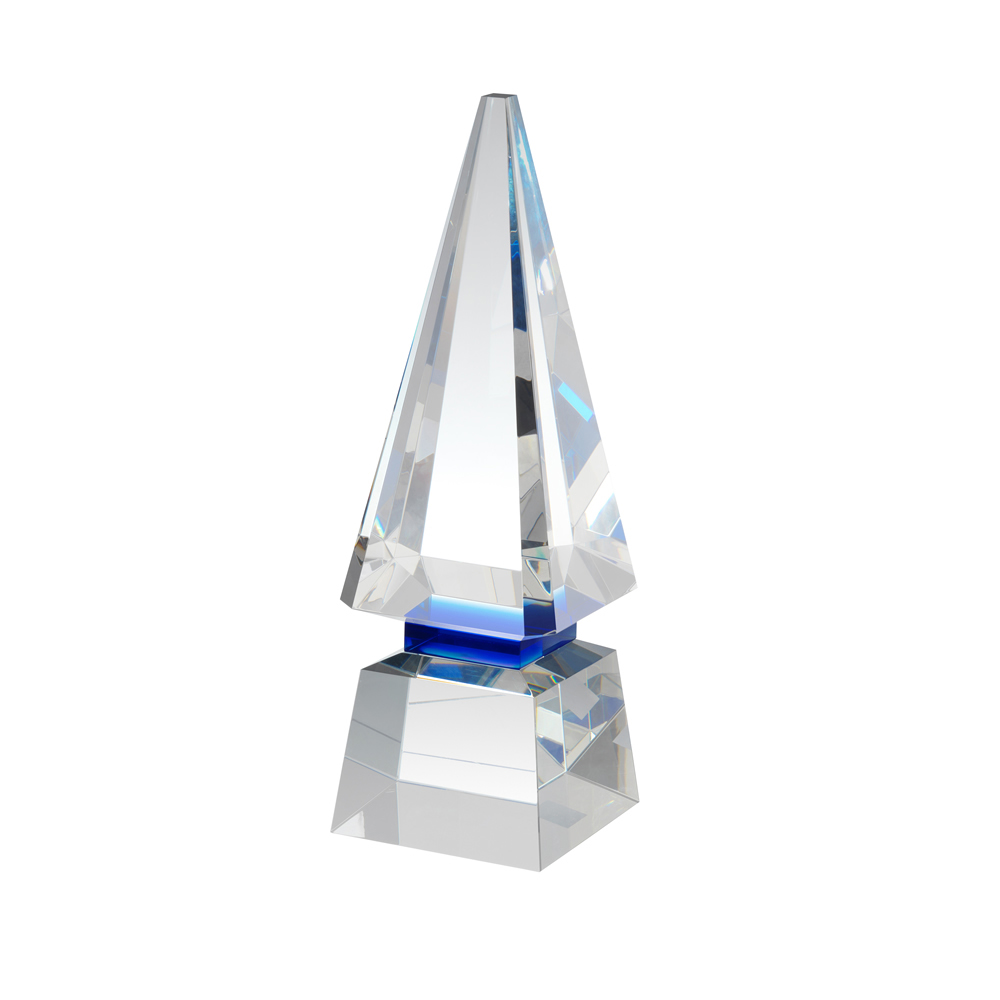 11 Inch Deluxe Pyramid Optical Crystal Award