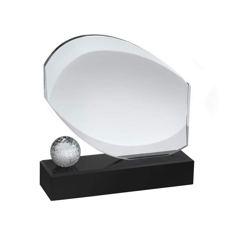 7 Inch Modern Design Golf Optical Crystal Award