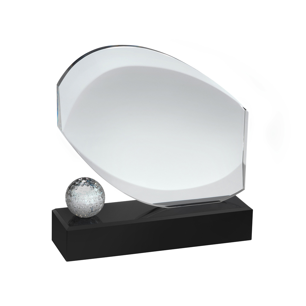8 Inch Modern Design Golf Optical Crystal Award