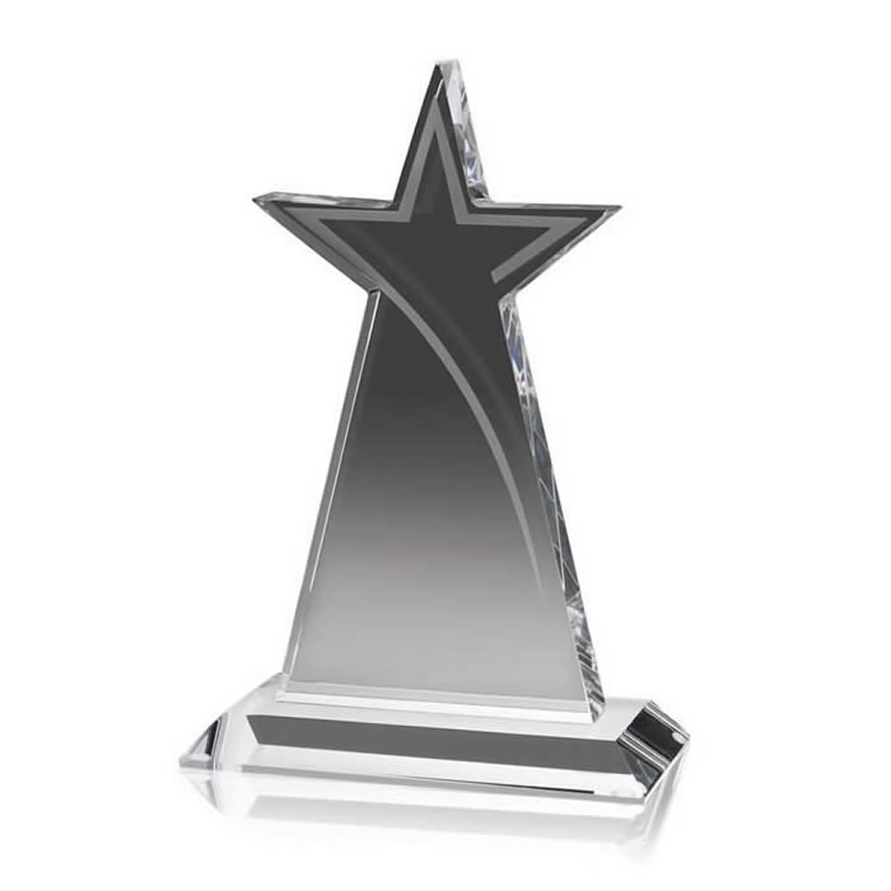 6 Inch Tall Star Optical Crystal Award