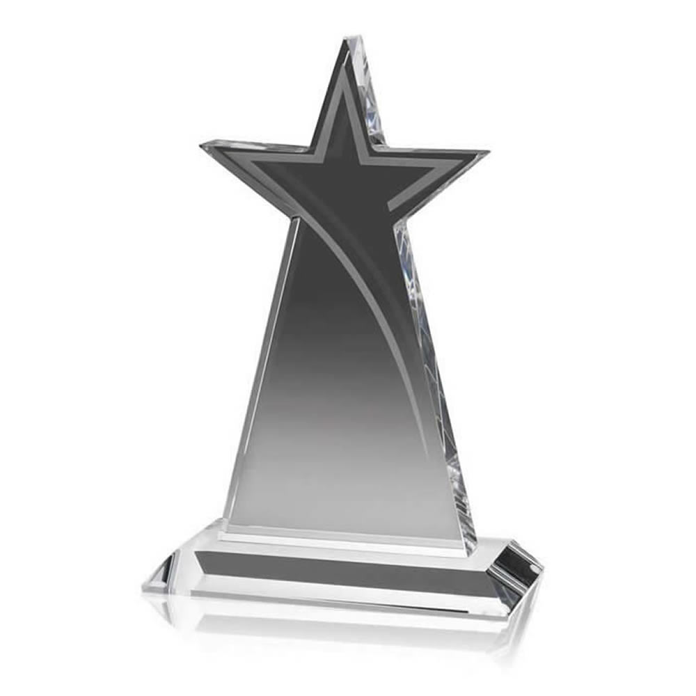 7 Inch Tall Star Optical Crystal Award