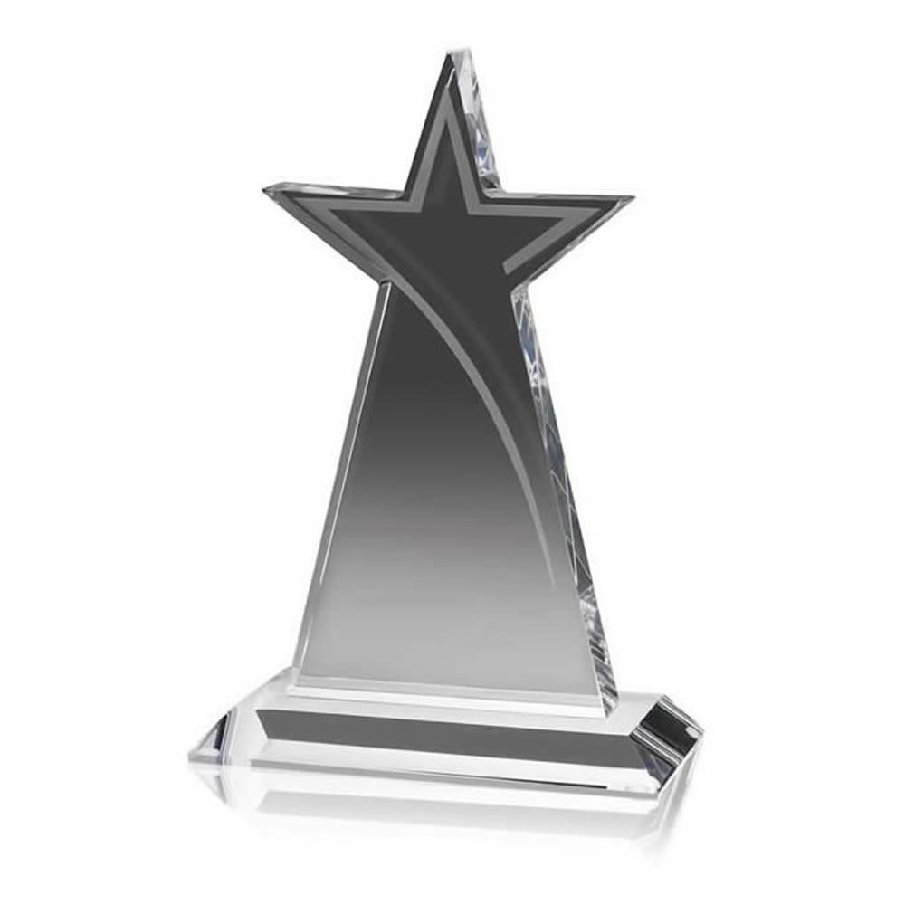 8 Inch Tall Star Optical Crystal Award