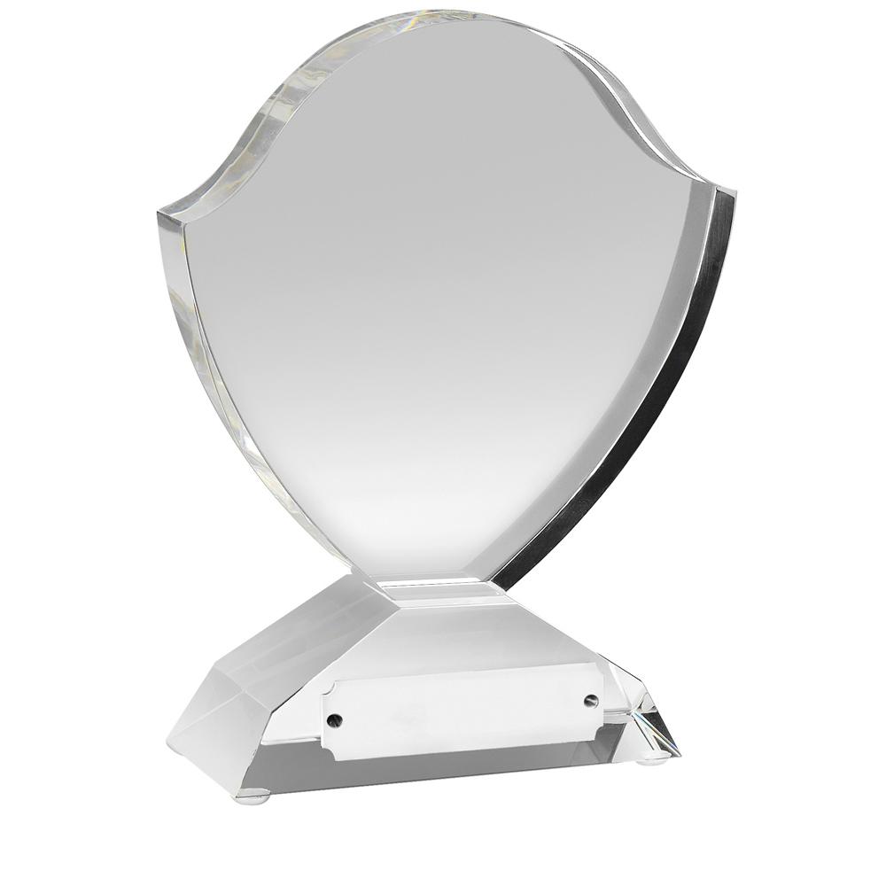 6 Inch Classic Shield Optical Crystal Award