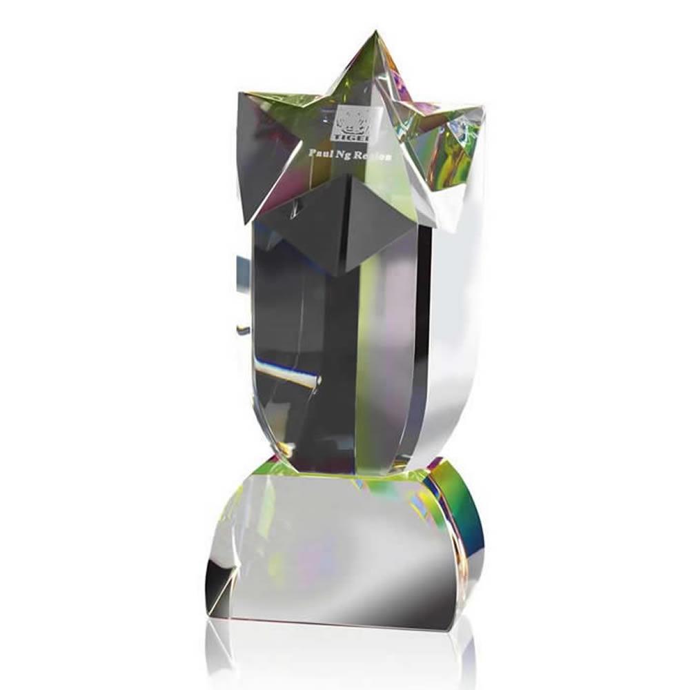 7 Inch Shooting Star Optical Crystal Award
