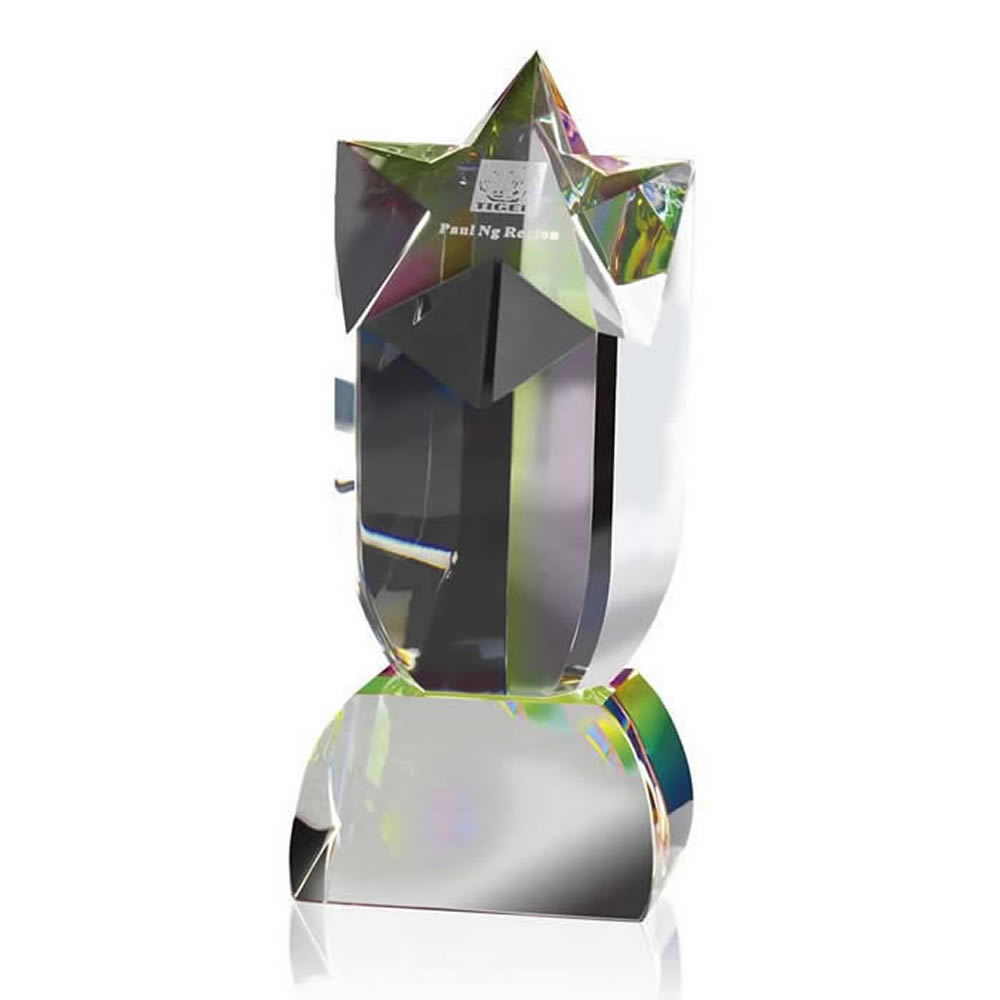 8 Inch Shooting Star Optical Crystal Award