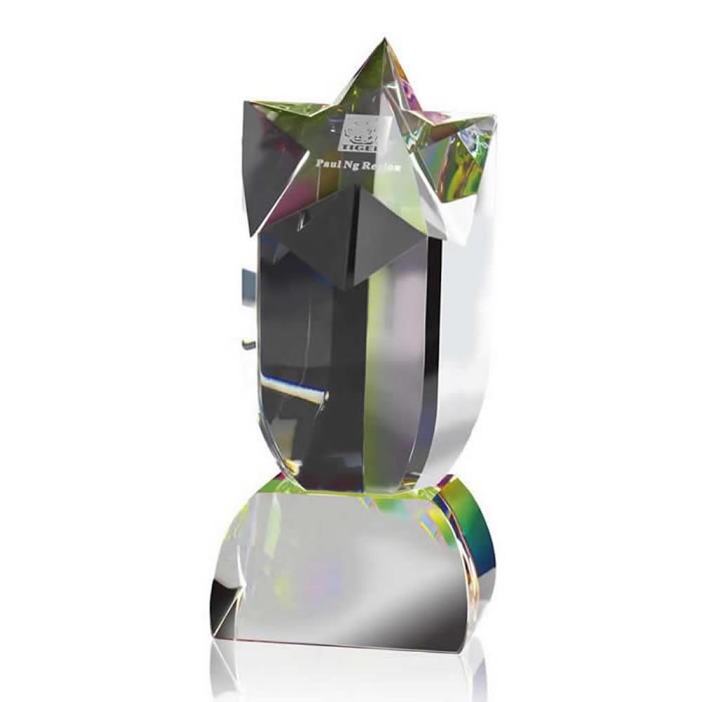 9 Inch Shooting Star Optical Crystal Award