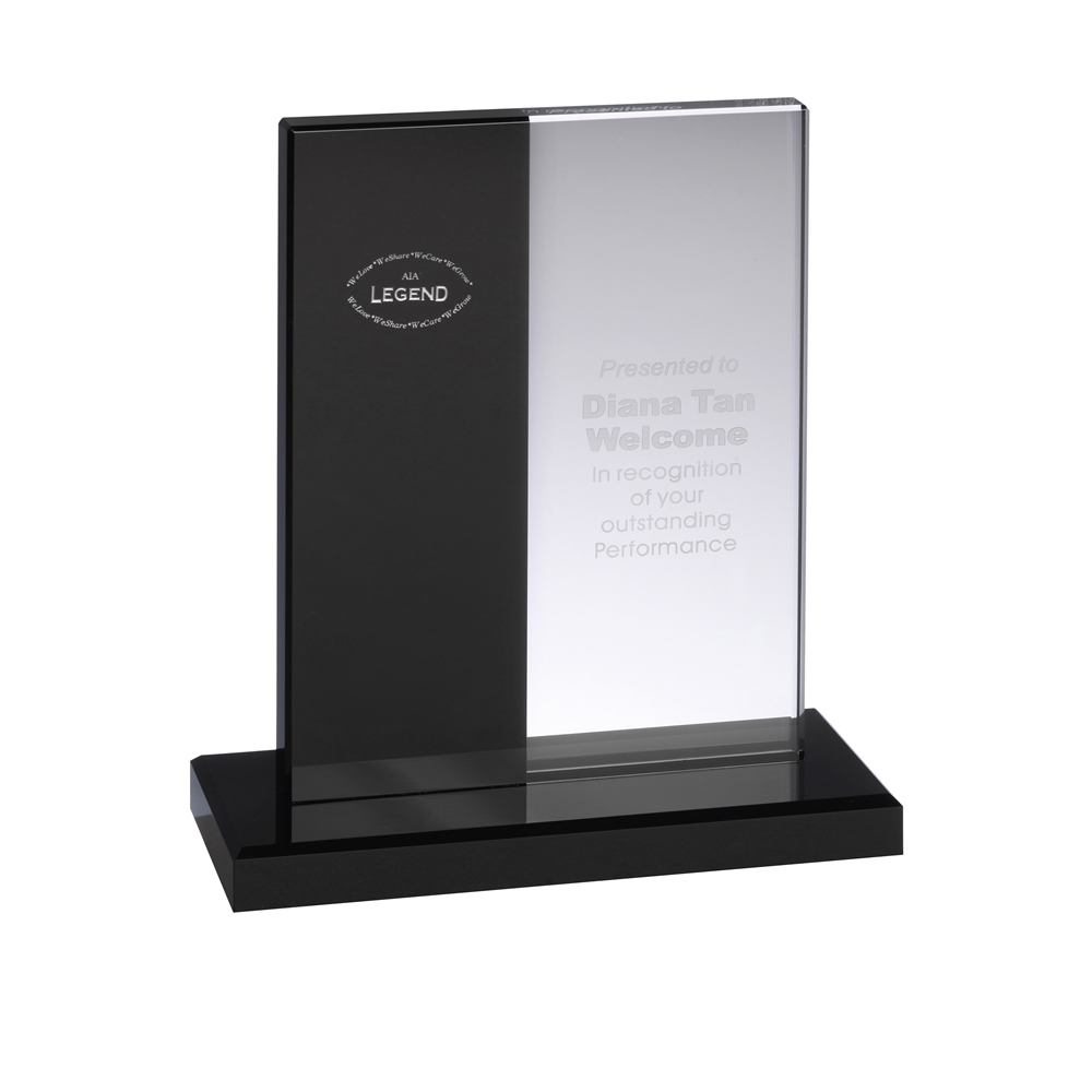 10 Inch Striped Optical Crystal Award