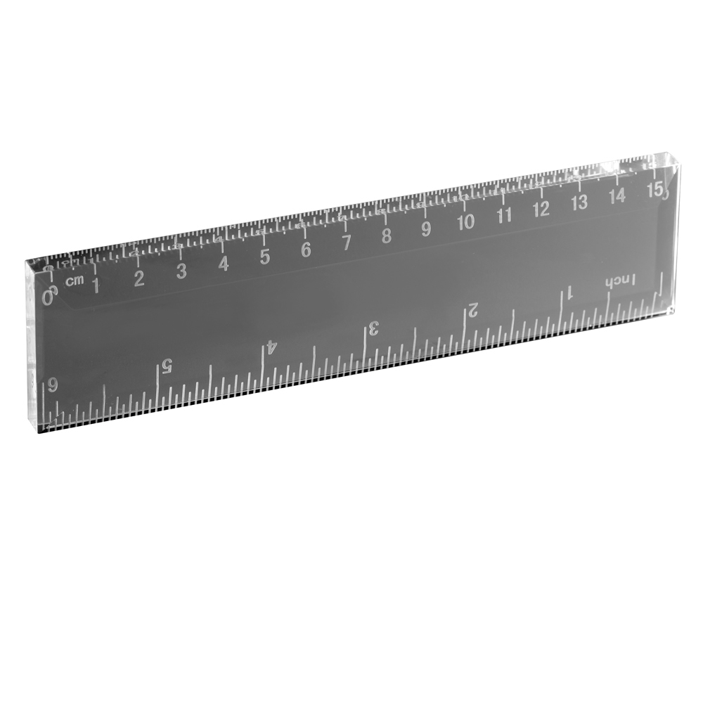 6 Inch Ruler Optical Crystal Award