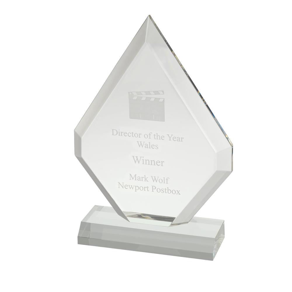 8 x 6 Inch Plain Clear Acrylic Award