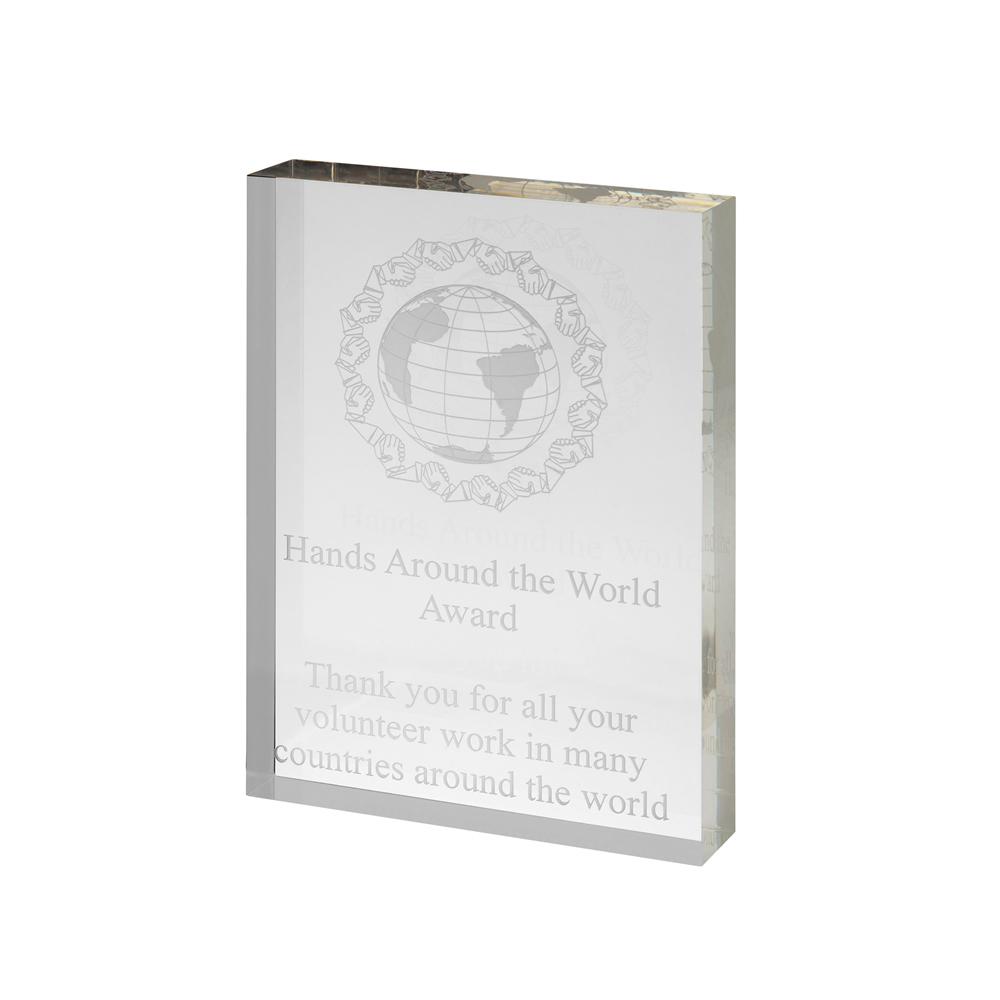 7 x 5 Inch Frestanding Plain Acrylic Award