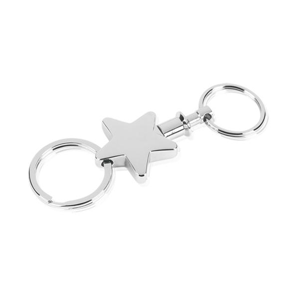 4 Inch Bright Finish Star Gift Masterwin Keyring