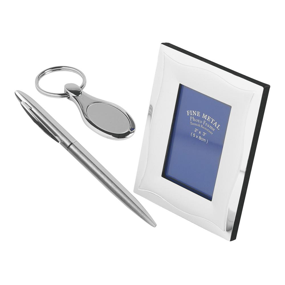 4 Piece Pen & Key Ring & Photo Frame Masterwin Gift Set