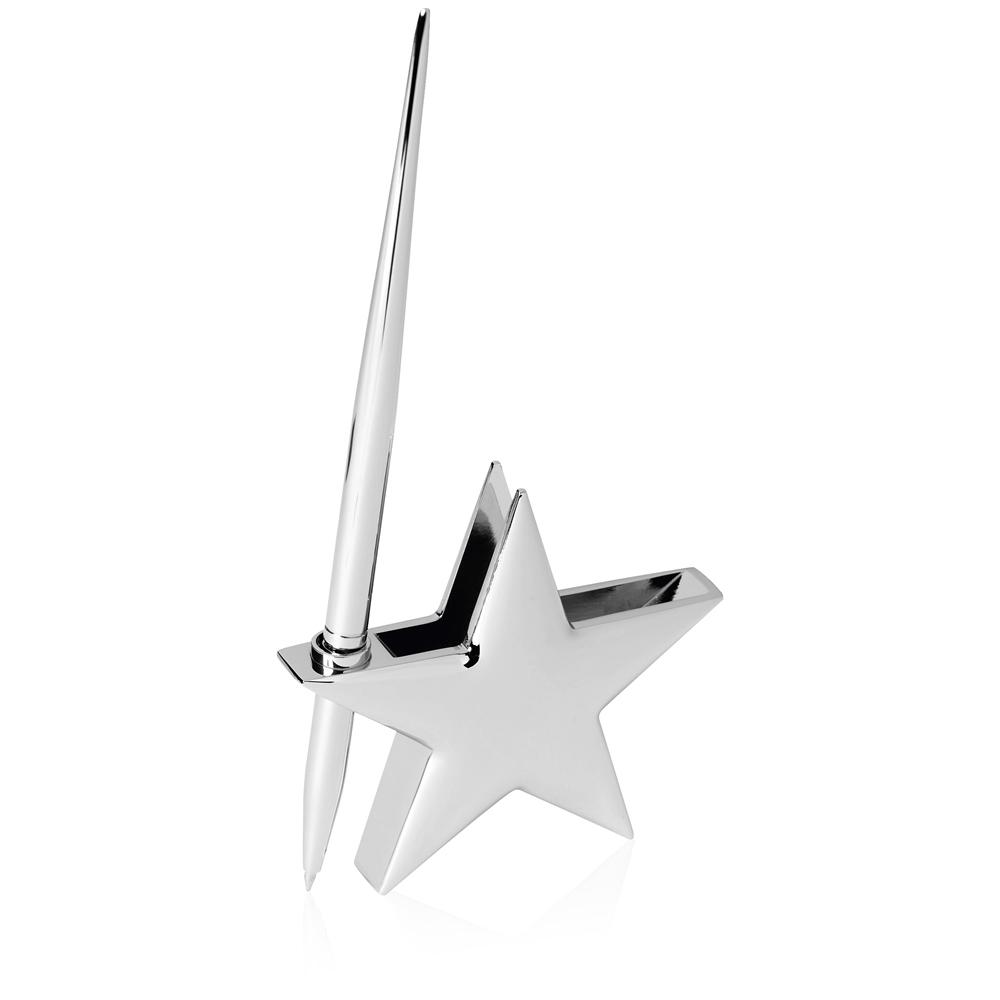 3 Inch Bright Finish Star Gift Masterwin Pen Holder