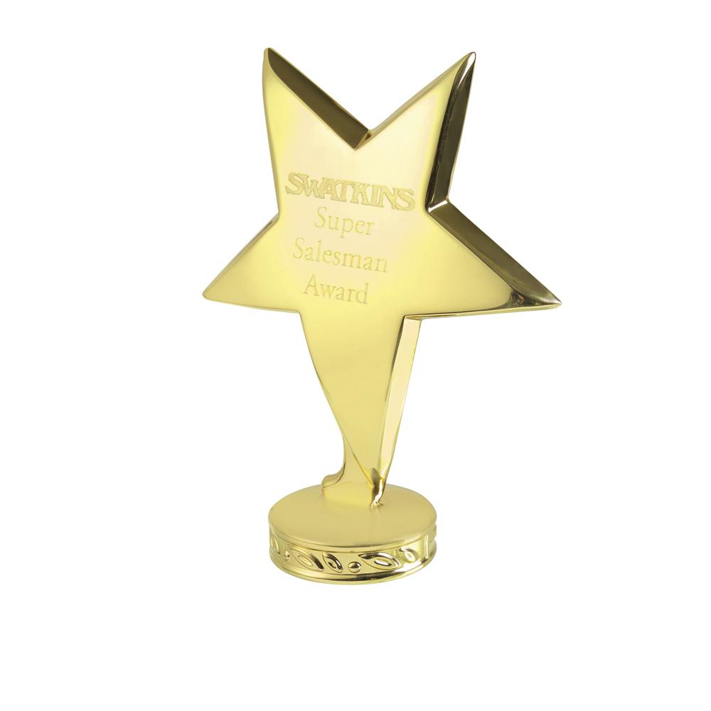 4 Inch Gold Free Standing Imega Star Award