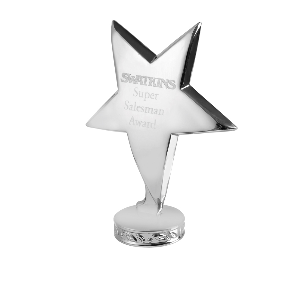 4 Inch Silver Free Standing Imega Star Award