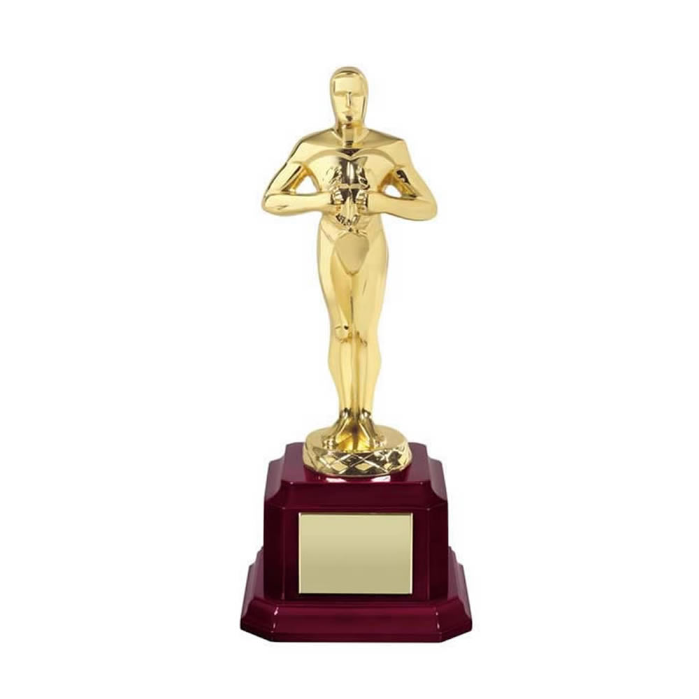8 Inch Gold Finish Classic Hollywood Figure Award